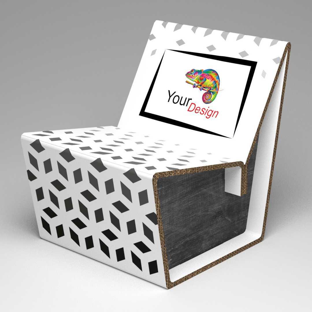 Lage Design Stoelen.Designstoel Van Karton Met Uw Design Kartonstore Nl